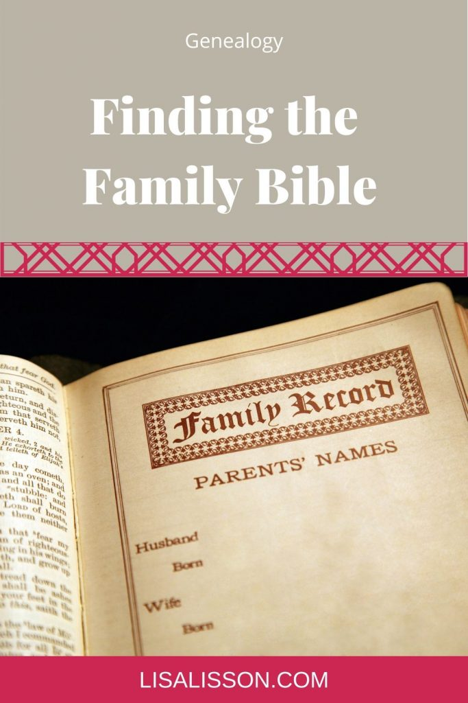finding the family bible pin