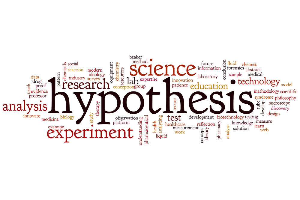 Hypothesis concept word cloud background