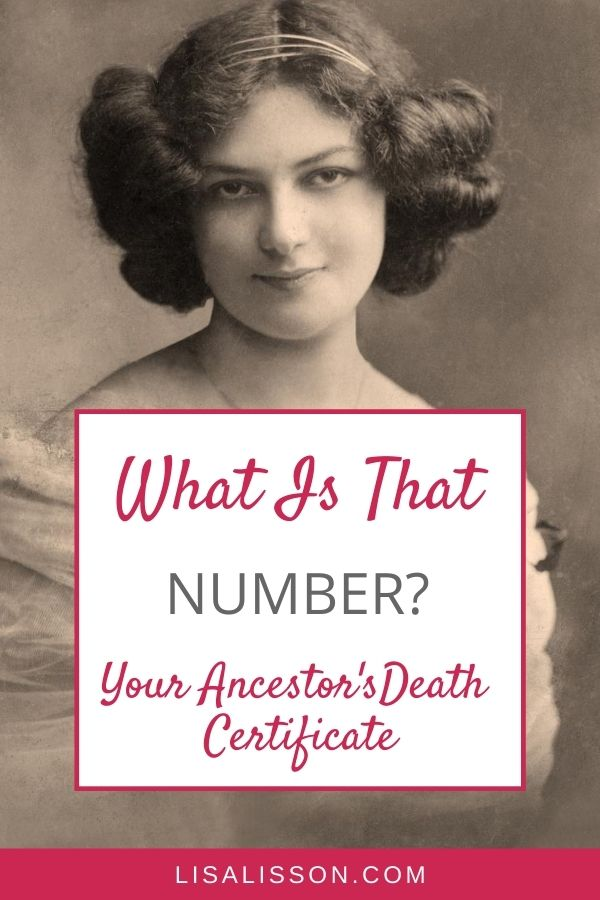 pin for numbers on ancestors death certificate