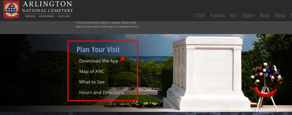 Arlington National Cemetery Homepage