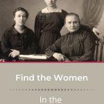 antique photo of 3 women