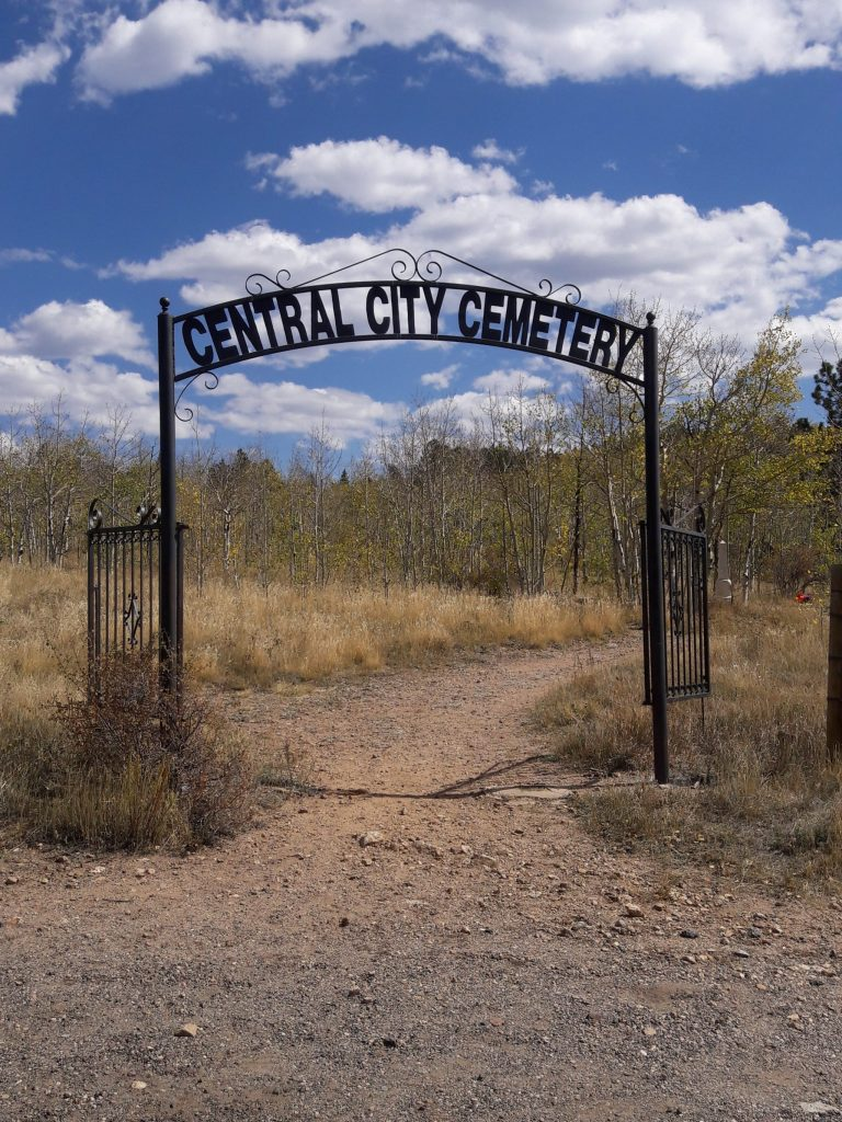 Central City Cemetery Entrance