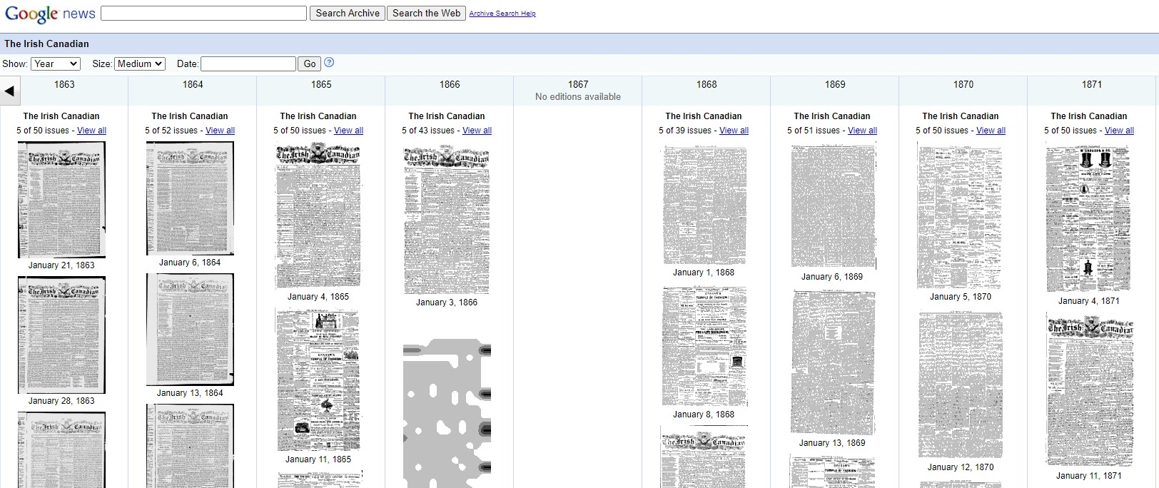 Google newspaper archive example