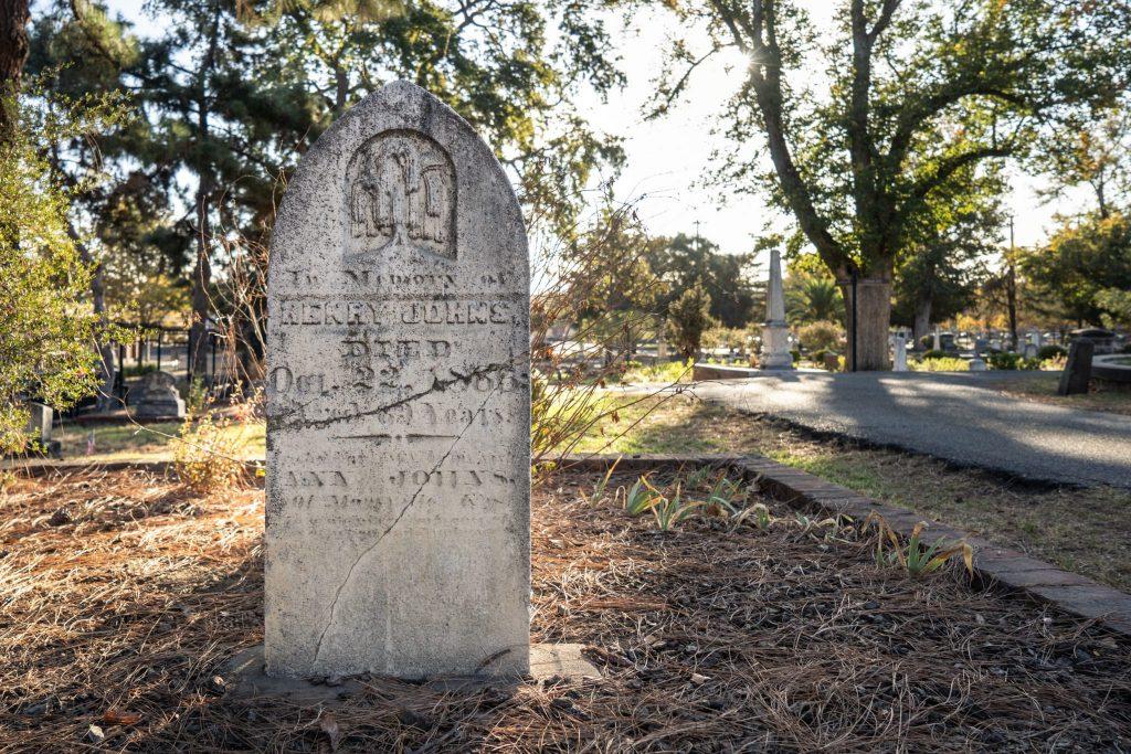 Repaird gravestone