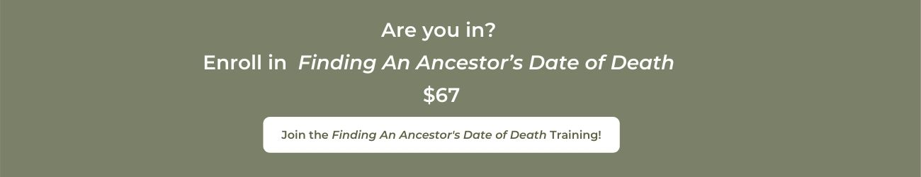 Purchase Finding An Ancestor's Date of Death Masterclass