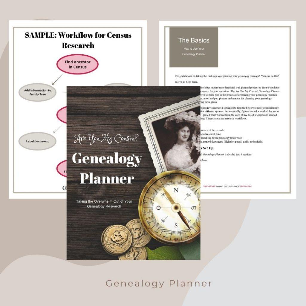 genealogy planner mockup