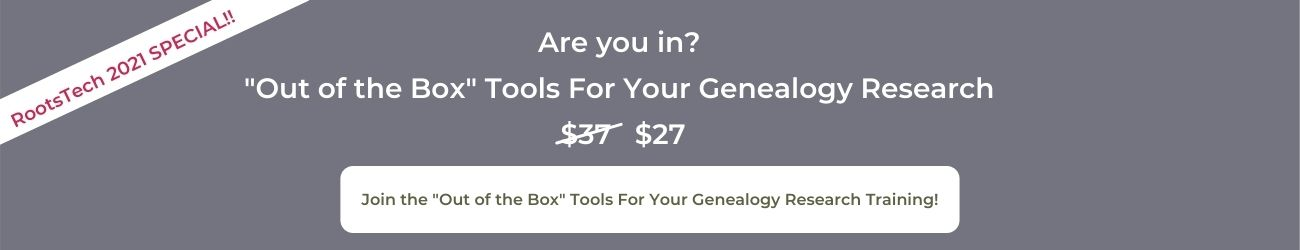GRAY SALES BANNER FOR GENEALOGY MASTERCLASS