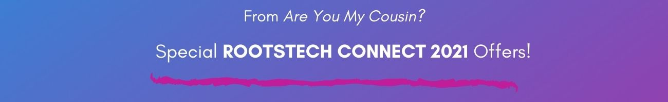 blue gradient banner for rootstech connect 2021 offers
