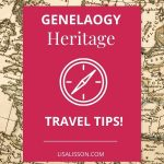 old map with title for Genealogy Heritage Travel Tips