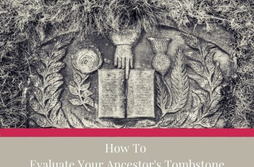 how to analyze an ancestor's tombstone
