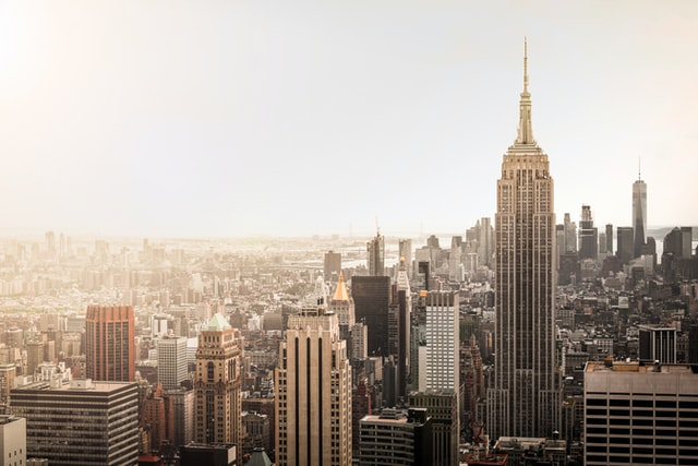 Skyline of New York City with Empire State Building