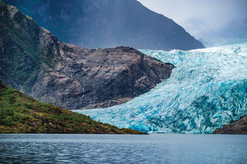 The Mendenhall Glacier in Alaska.