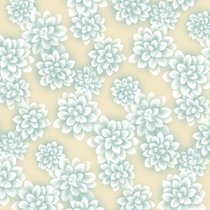 Winter Wonder Succulent Pattern