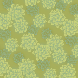 Succulents Greens Pattern