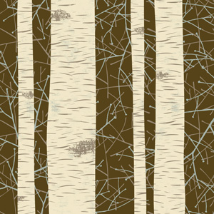 Winter Wonder Birch Stripes Pattern