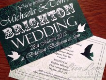 Vintage Brighton Wedding Invitation