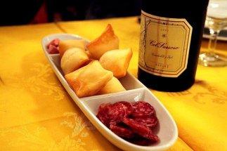 Gnocco Fritto, Salame & Wine