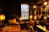 Int. John Spode's Bedsit, shot at Langleybury House
