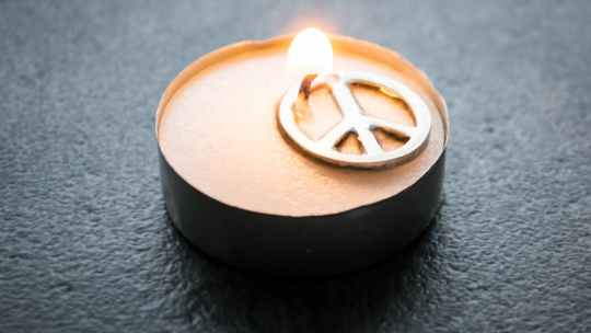 peace sign tealight