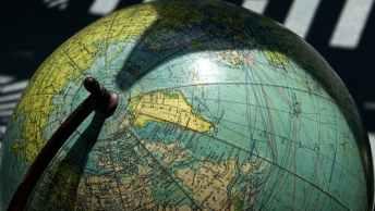 globe in shadow
