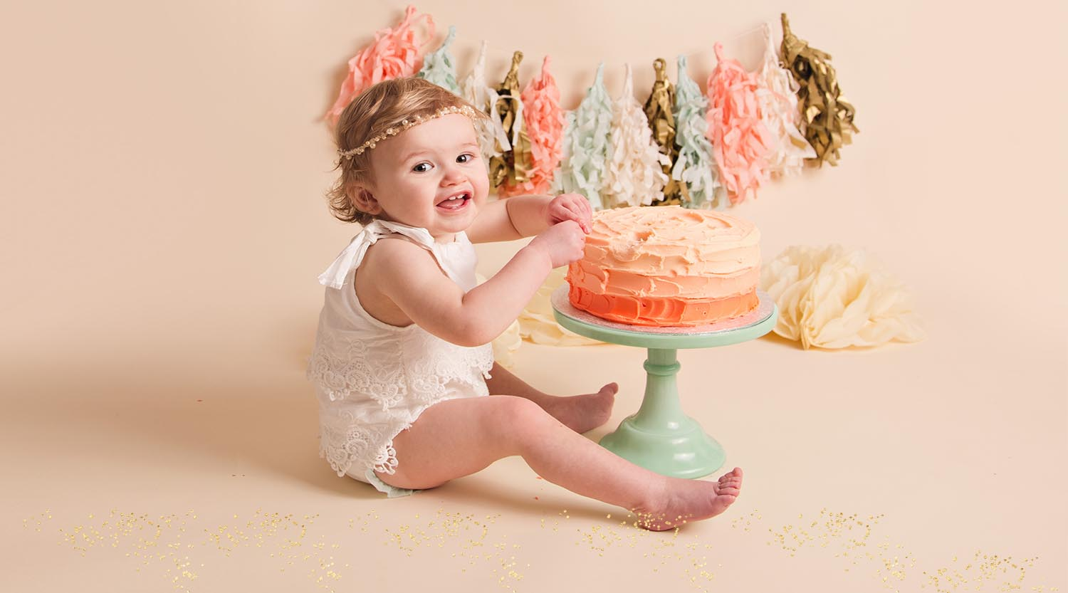 cake smash photo shoot sunderland tyne and wear
