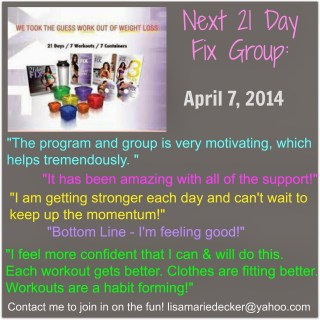 Looking for 21 Day Fix support?  Look no further!