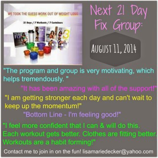 21 Day Fix, Meal Planning, 21 Day Fix accountability groups