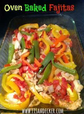 Healthy Dinner Recipes, Oven Baked Fajitas, Chicken Fajitas