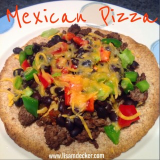 Mexican Pizza, Healthy Dinner Ideas