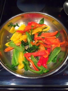 Garlic Peppers and Spinach, Clean Eating, Vegetable Side Dishes