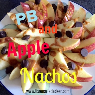 Peanut Butter and Apple Nachos, Kid Friendly Snacks, 21 Day Fix Approved Snack