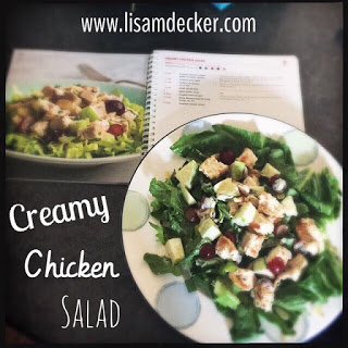Creamy Chicken Salad, Chicken Salad, Fixate Cookbook, 21 Day Fix Cookbook, 21 Day Fix Meals, Healthy Salad Recipes, Successfully Fit, Lisa Decker