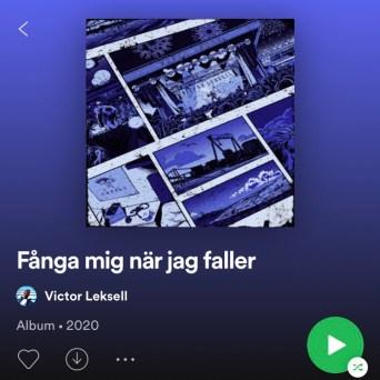 """Jag gjorde omslaget till Victor Leksells debutalbum """"Fånga mig när jag faller"""" (Sony Music, 2020)."""