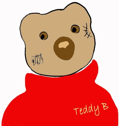 Teddy-B der Wander-Bär