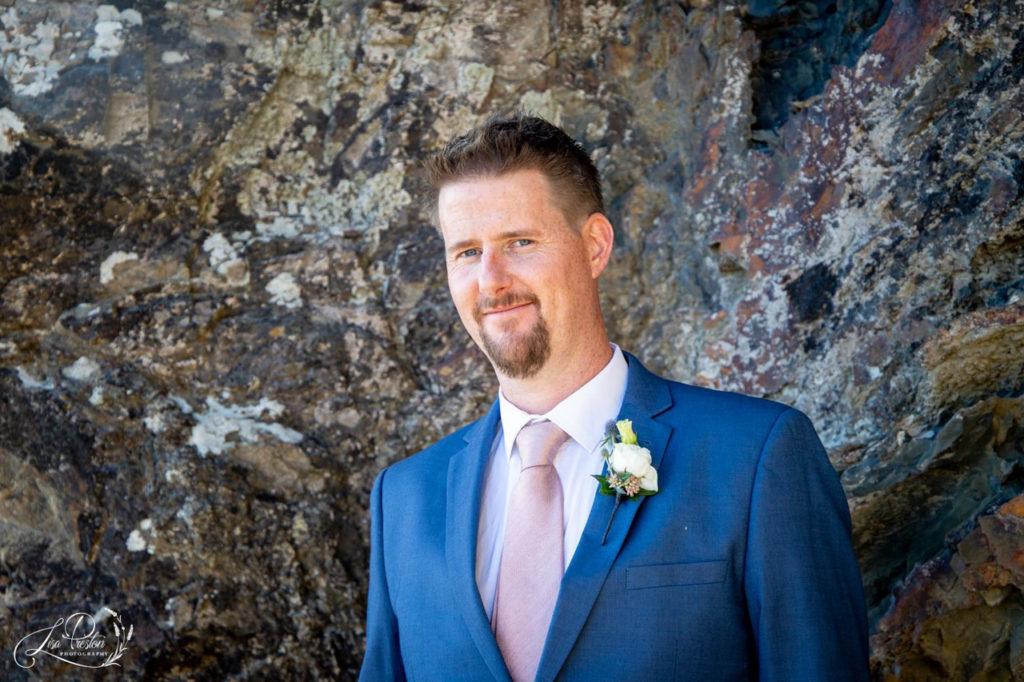 Bride Groom on Pencarrow Coast