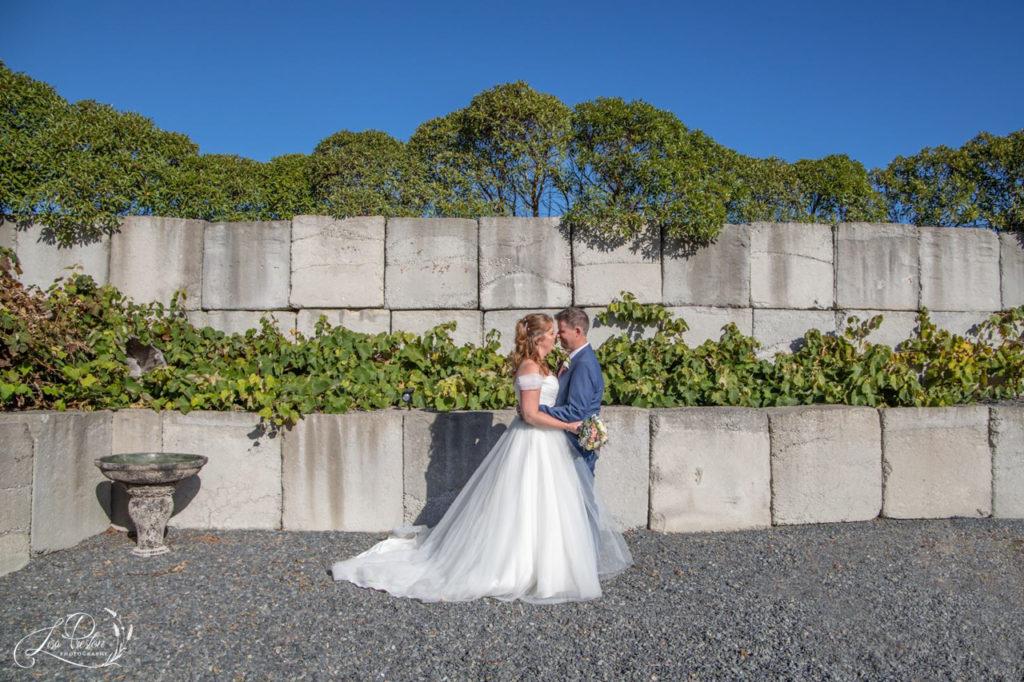 Wedding Pencarrow Lodge, bride groom cuddle