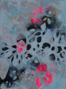 Amorphic Breeze 3 x 4 ft acrylic on canvas -$1400