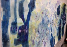 Journey-4x9 ft-watercolor on paper $2800