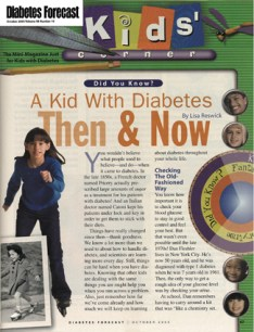 Article about kids with diabetes: then and now