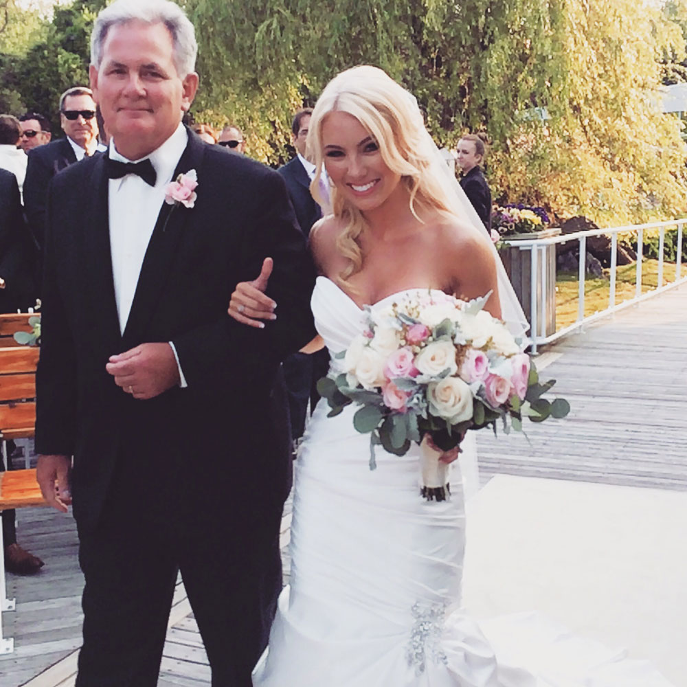 Lisa robertson in wedding dress - Leigh Is Always A Beautiful Girl But Walking Down The Aisle With Her Father Paul Her Happiness Made Her One Of The Most Beautiful Brides I Have Ever Seen
