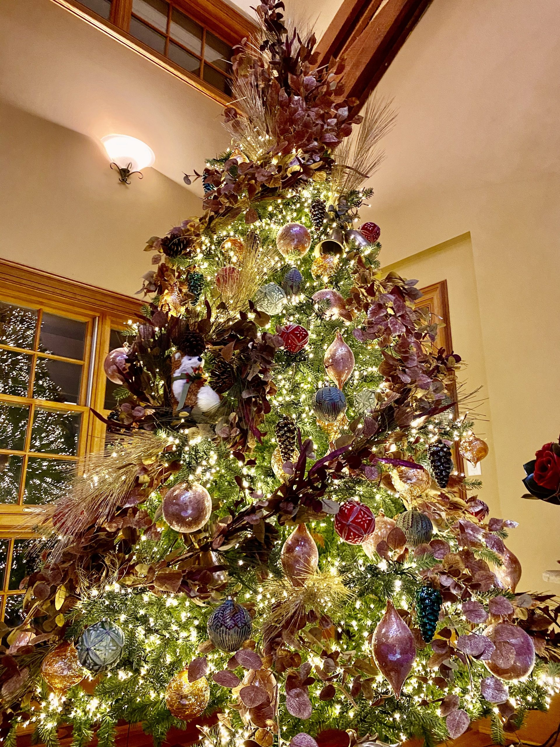 Rose Gold And Rich Colors Christmas Tree Lisa Robertson