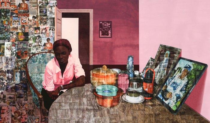 Before Now After (Mama, Mummy and Mamma)--Njideka Akunyili Crosby