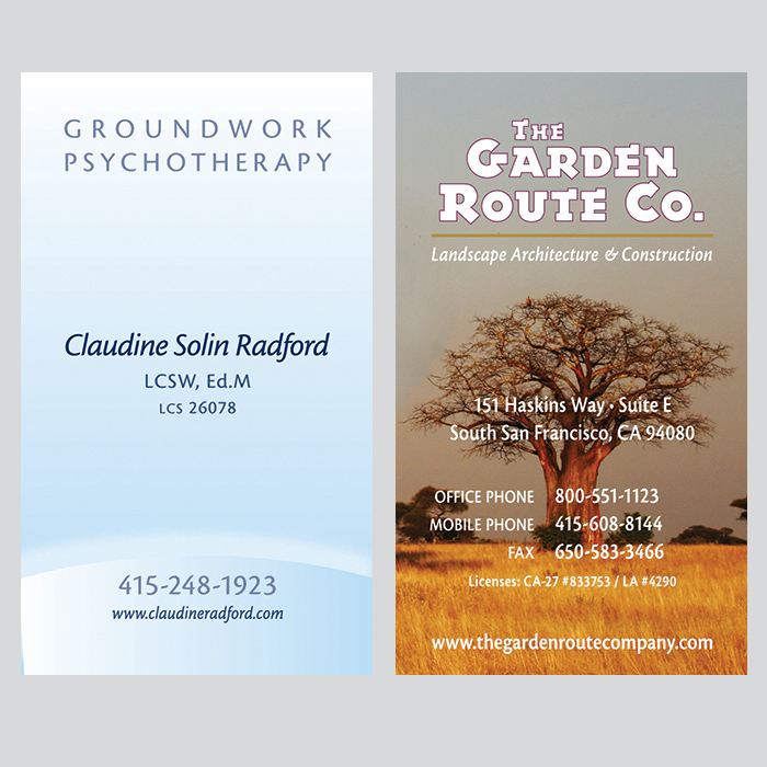 Claudine Rich biz cards