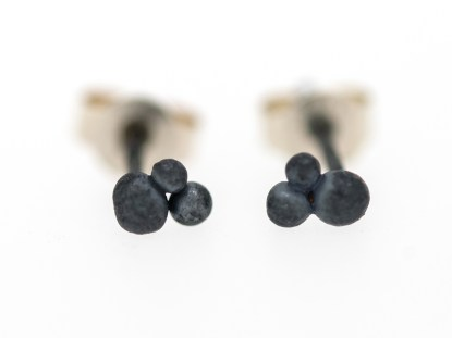 Small Recycled Silver Stud Earrings | Lisa Rothwell-Young