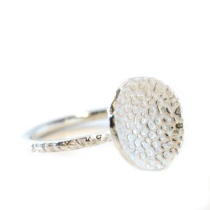 textured silver ring | Lisa Rothwell-Young