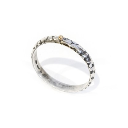 Eco sterling silver ring