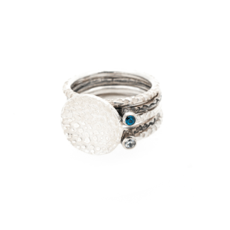 eco friendly silver stacking rings