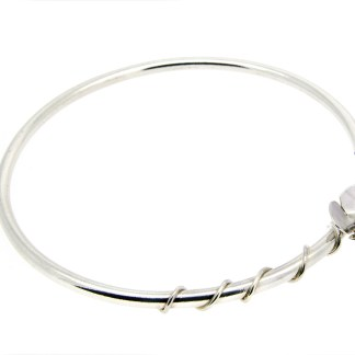 Eco friendly recycled silver bangle