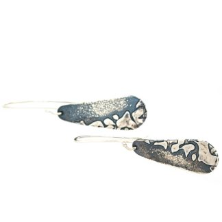 eco friendly recycled silver drop earrings | Lisa Rothwell-Young