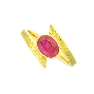 Ethical 18ct gold and ruby ring | Lisa Rothwell-Young